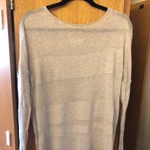 Oversized light grey sweater